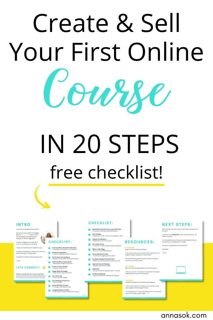 Create Sell Courses Checklist Course Launch Checklist Course Checklist Create Online Courses