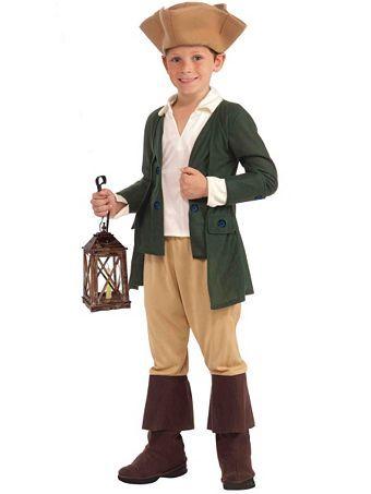 Kids Paul Revere Costume   Wholesale Historic/Patriotic Halloween Costumes for Boys Costumes