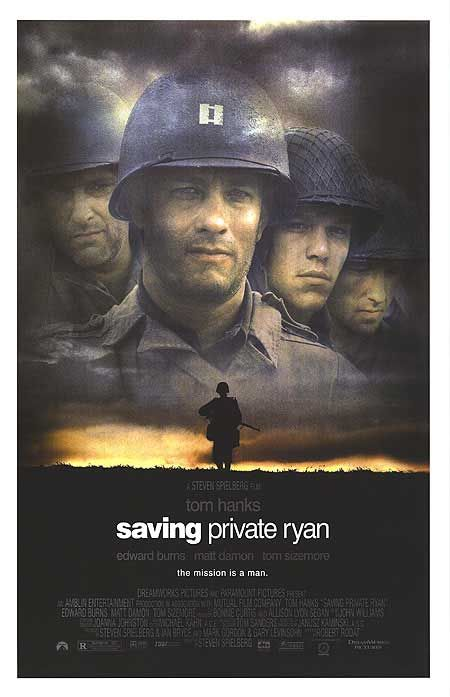 """""""...I hope in your eyes I have earned what you all have done for me."""" [closing scene at the cemetery as he reflects on the sacrifices that his comrades made so he could live.] touching!Movie Posters, Amazing Movie, Warehouses Movieposter Com, Ryan 1998, Close Scene, Saving Private, Ryan Movie, Private Ryan, Posters Warehouses"""