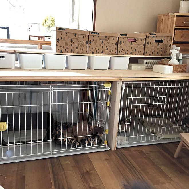わんこと暮らす家 キャンドゥ 犬 犬小屋 ゲージ などのインテリア実例 2017 10 26 11 49 29 Roomclip ルームクリップ 犬小屋 リビング ペットスペース ゲージ 犬
