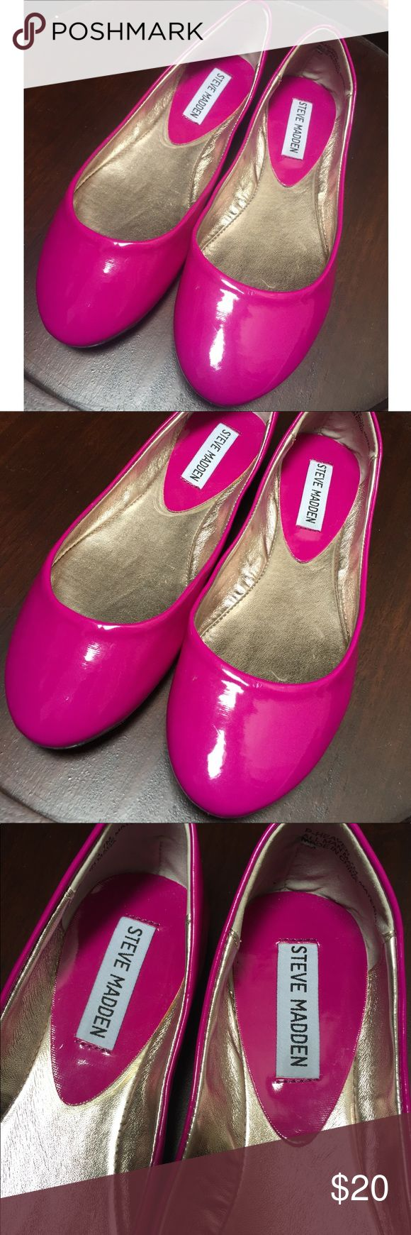 ☀️EUC Steve Madden Purple Ballet Flats Size 7 Steve Madden Purple/Pink Ballet Flats, size 7, in like-new condition. Worn only once. Steve Madden Shoes Flats & Loafers