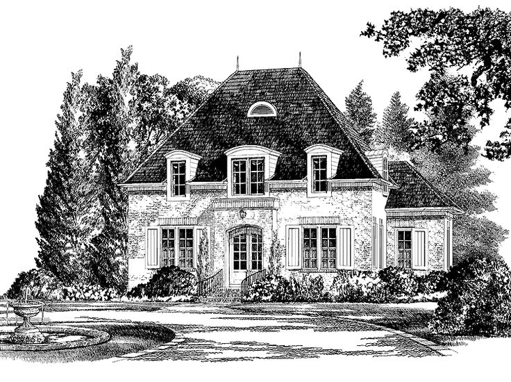 17 best images about fabulous exteriors on pinterest for Luxury french country house plans