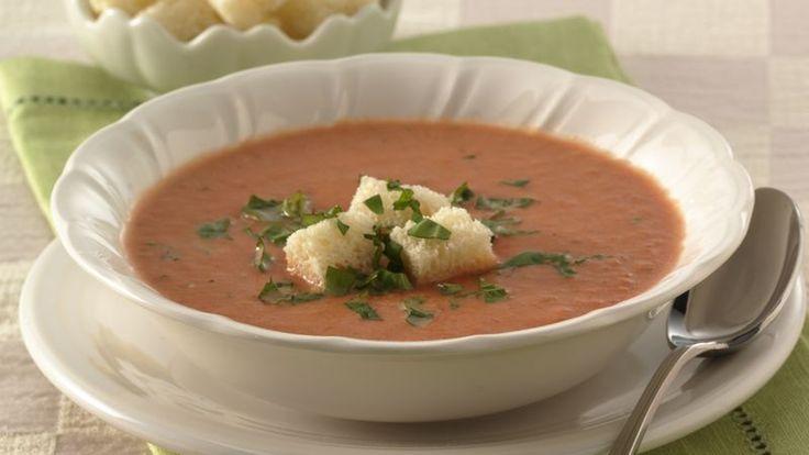 Pilsbury Souper Shrimp Bisque w/the red pepper tomato stock/soup from Aldi