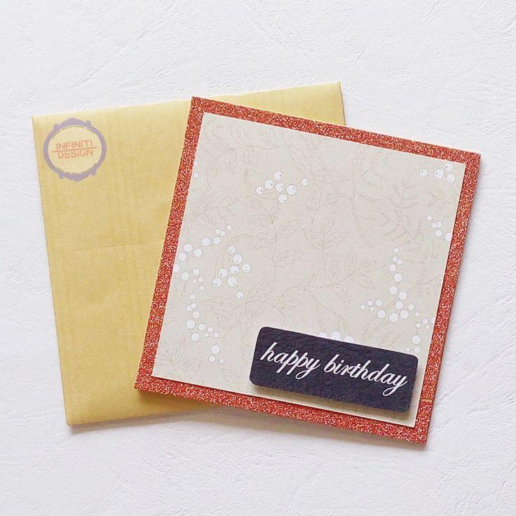 10x10 cm simple birthday card