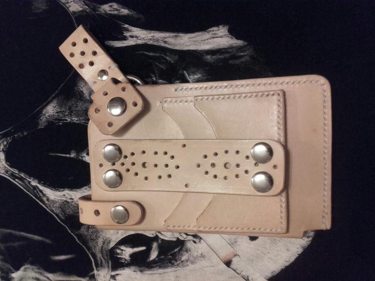 Leather bag handmade.