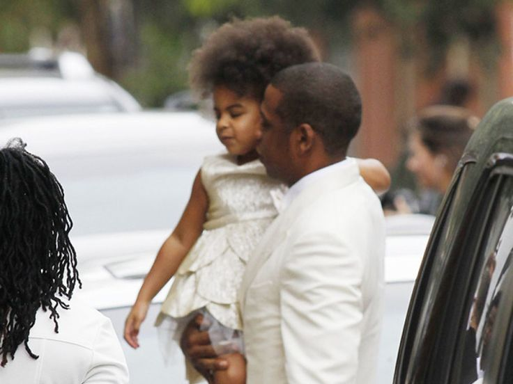 BLUE IVY'S OUTFITS | ... ' Wedding: Jay Z & Blue Ivy Wear All-White Outfits - Hollywood Life