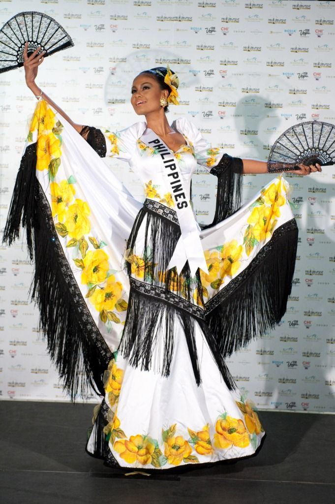 Maria Venus Raj wears her national costume for the Miss Universe 2010 National Costume Presentation Show at the Mandalay Bay Resort & Casino in Las Vegas on August 16.