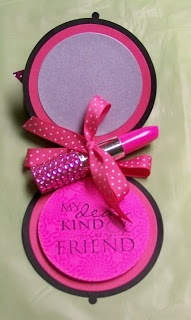 round post-it-notes - compact with lipstick pens - bjl