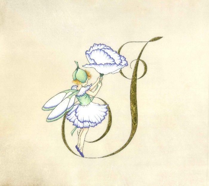 Lettrine I inspirée du Jardin féérique de Cicely Mary Barker Read more at http://le-parchemin-des-limbes.my.tripper-tips.com/photo/lettrine-n-79916.html#wdHDGKyqiOckAWIo.99