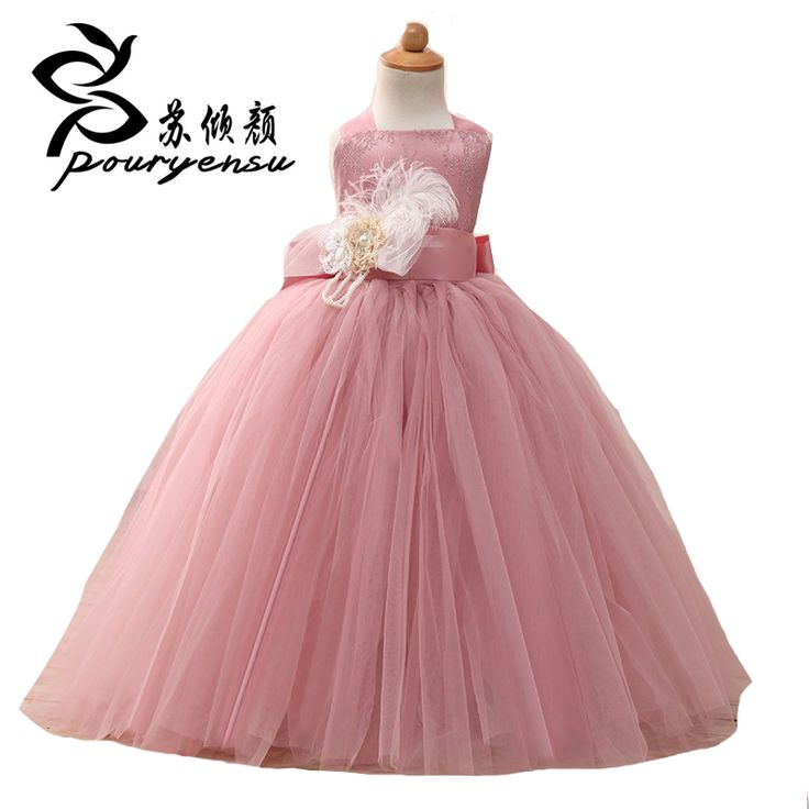 Real Photo Blush Rosa vestidos de Niña de las Flores Vestido de Primera Comunión Vestidos de Las Muchachas Niños vestido de Bola Vestidos de Noche de Longitud Ritzee Desfile