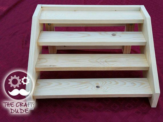 Wooden Stair Cupcake Stand For Capacity Of 24 Cupcakes Wooden