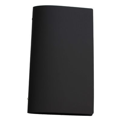 Tuscan Leather A4 Narrow Black A black leather restaurant menu cover in a popular narrow format.