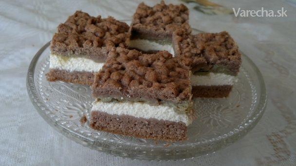 Tvarohovo-rebarborový koláč - Recept
