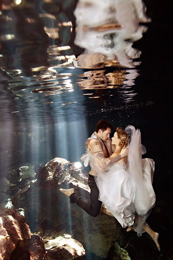 Under water trash the dress wedding photo! Breath taking!!