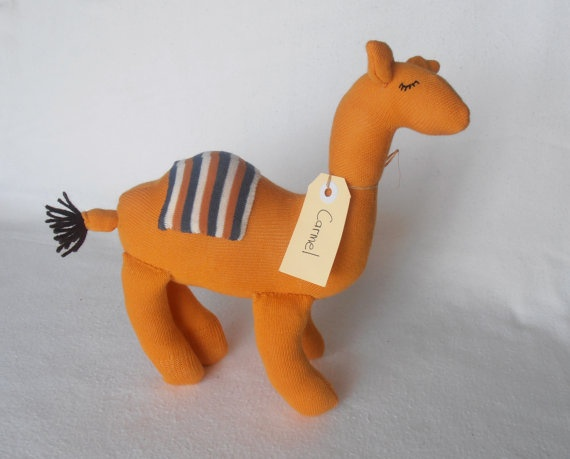 Carmel Camel Sock animal sock monkey sock camel by lostsockshome, $23.00