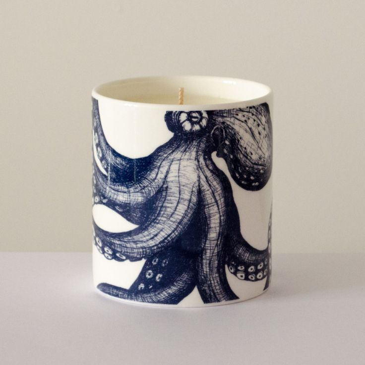 #cream #cornwall #octopus #nautical #soy #candle