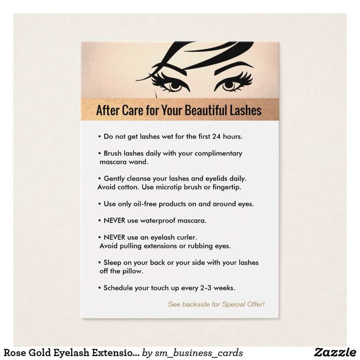 lash lift aftercare instructions