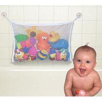 Colore casuale piegante eco-friendly del bambino di alta qualità bagno sacchetto della maglia bambino bagno giocattolo sacchetto di immagazzinaggio cestini tazza netto di aspirazione
