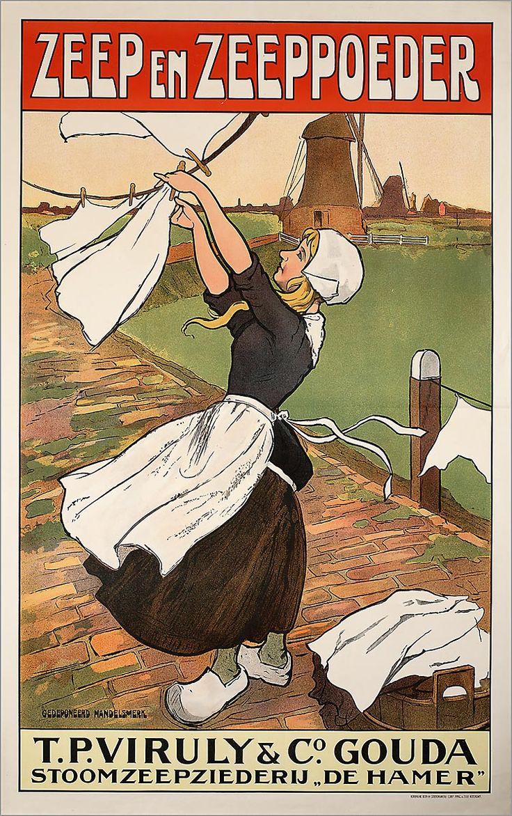 """T.P. Viruly & Co's, Stoomzeepziederij """"De Hamer"""" (Gouda) drukker: Corns. Immig & Zoon Verv.jaar:1900-1925"""