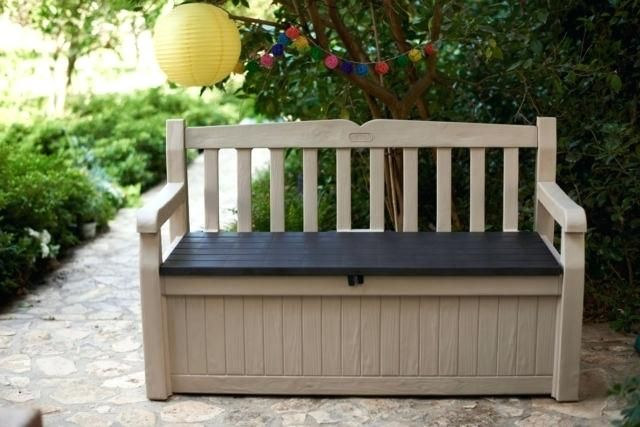 Good Patio Storage Bench Pictures Ideas Patio Storage Bench For