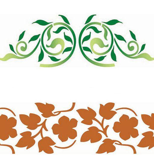 Las plantillas decorativas o estarcidos son un excelente recurso para decorar interiores,  ya que permiten personalizar las paredes de toda la casa.