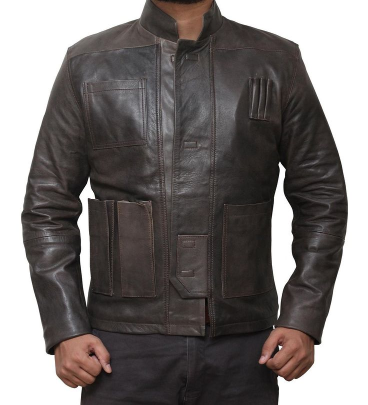 Han Solo Star Wars Brown Distressed Jacket