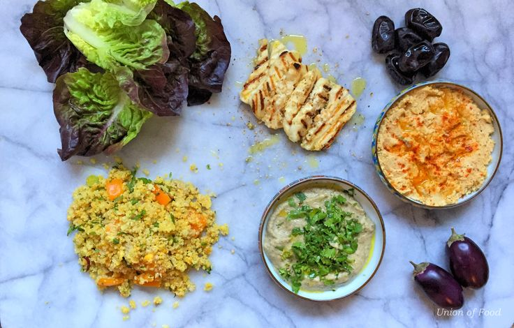 Simple Meze gluten free tabbouleh, Hummus and Baba Ghanoush