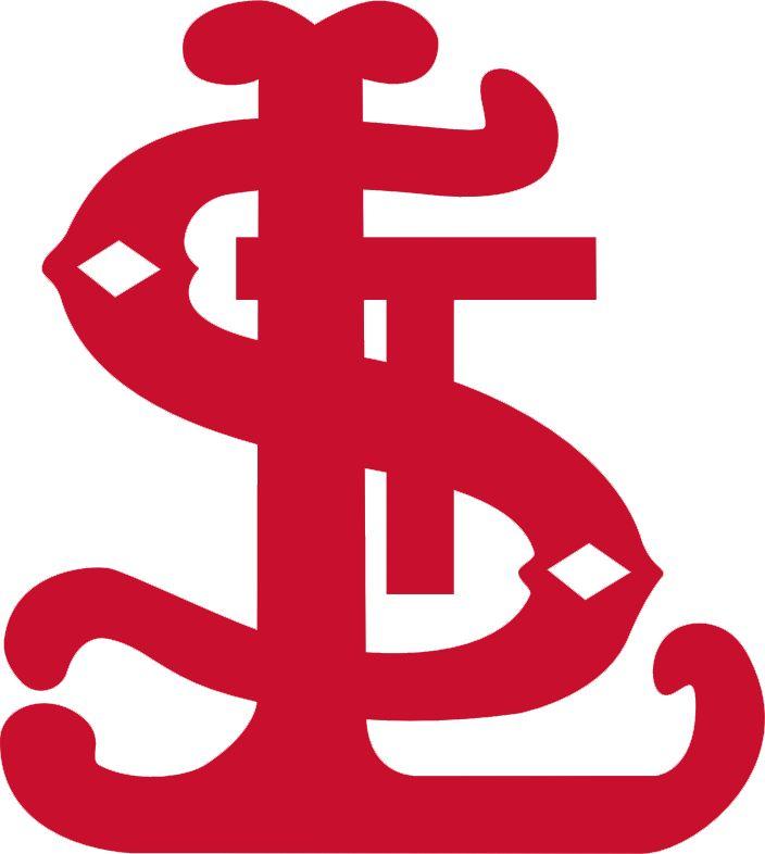 St. Louis Cardinals Primary Logo (1900) - Fancy red interlocking STL