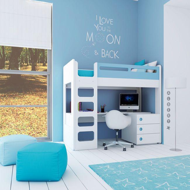 Convertible crib - stage junior - bunk. Cuna convertible color celeste para…