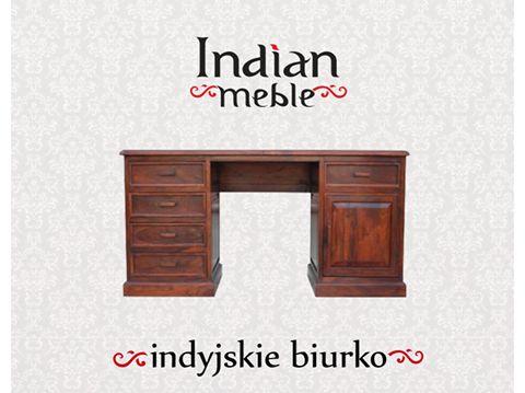Polecamy eleganckie i solidne #biurka. Na zdjęciach #biurko z palisandru indyjskiego: http://www.indianmeble.pl/biurka :)