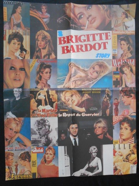 RARE BIG GREEK CLIPPING POSTER:  BRIGITTE BARDOT from the 80s'-90s'