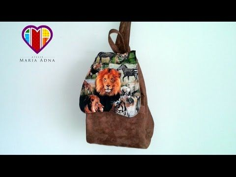 Bolsa mochila em tecidos Janee - Maria Adna Ateliê - Cursos e aulas de bolsas em tecidos - YouTube