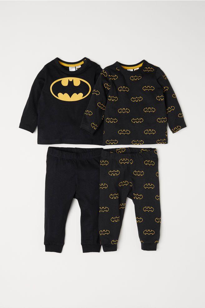 7fbe641c4df83 2-pack Jersey Sets - Black Batman - Kids