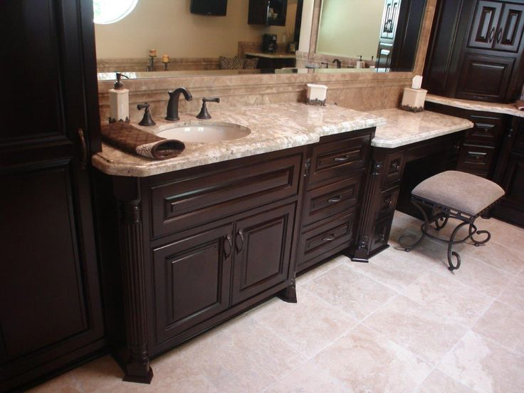 These bathroom cabinets by Woodwork Creations are so ...