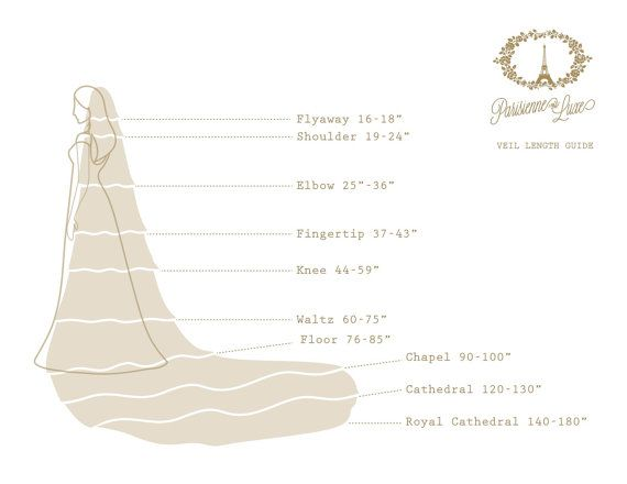 VEIL LENGTH GUIDE                            by ParisienneLuxe