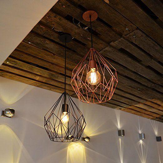 Licht Trend Bosco Retro Hangelampe Durchmesser 31 Cm Schwarz 11507