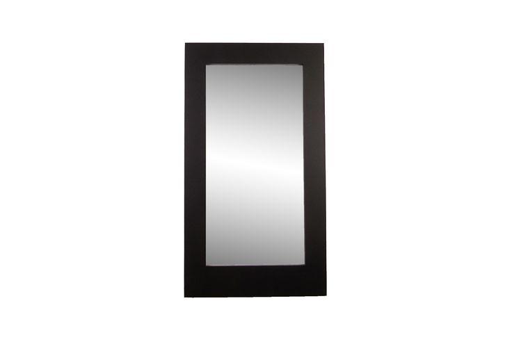 Large black wall mirror by Marvellous Mirrors. Enjoy the stark modernisum.
