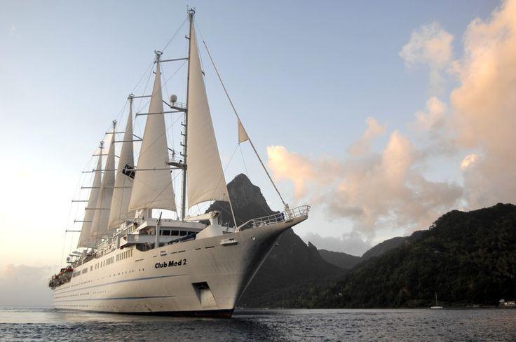 Cruises met de Club Med 2 - ontdek de Caraiben en Europa tijdens een luxe cruise vakantie.