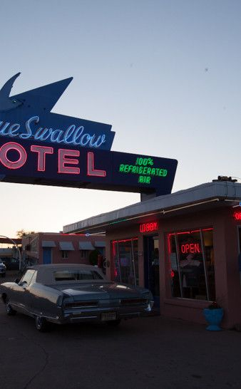 Blue Swallow Motel | Travel | Vacation Ideas | Road Trip | Places to Visit | Tucumcari | NM | Photo Op | Folk Art | Hotel | Roadside Attraction | Motel