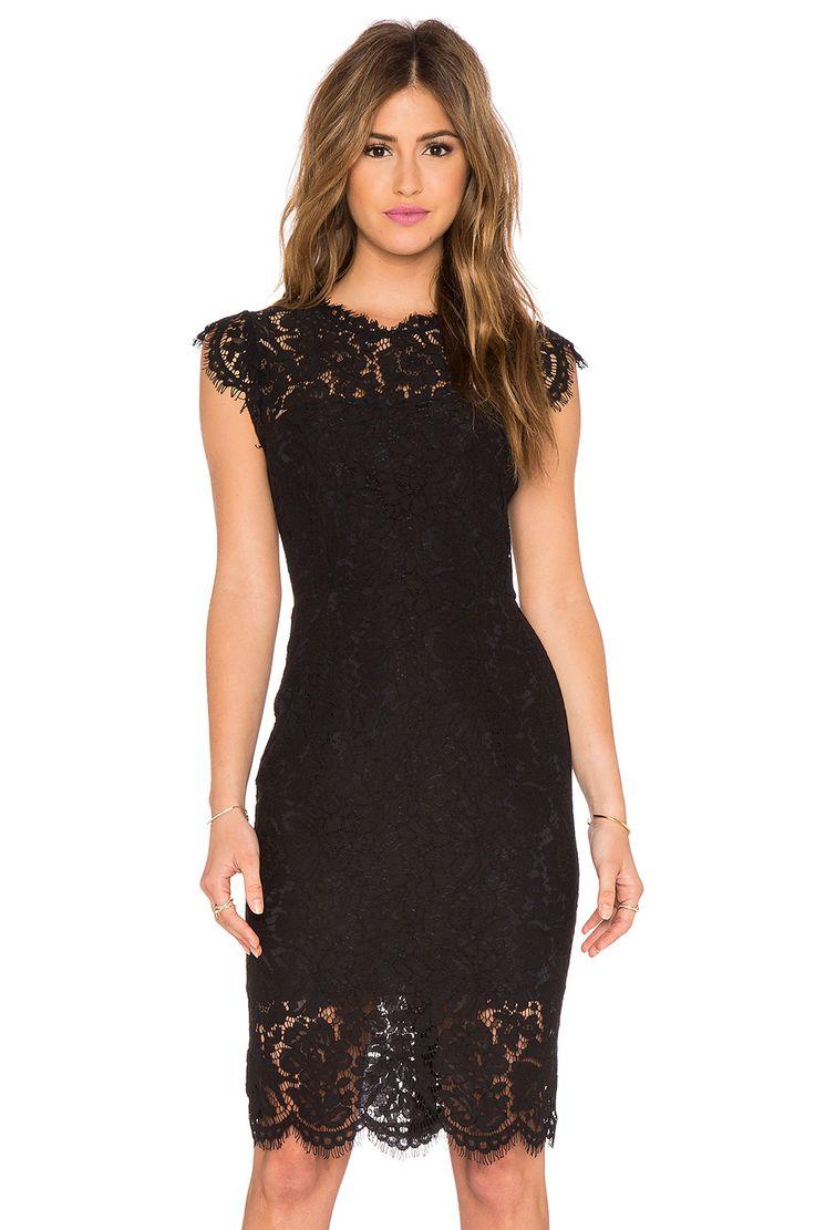 RACHEL ZOE Suzette Lace Mini Dress in Black # ...