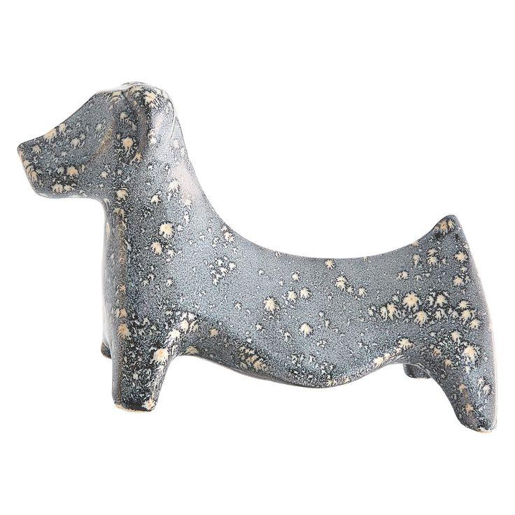 RONI Grey ceramic dog object