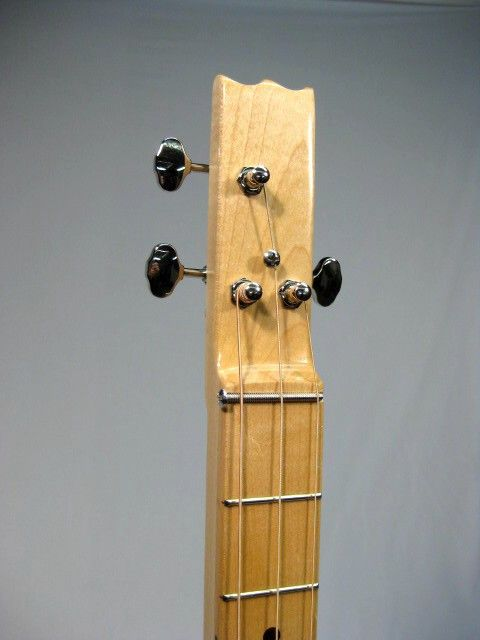 The Big Payback 3 string cigar box guitar Maple Neck with Maple Fretboard and Silver Grover Tuners