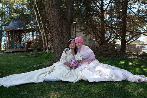 lesbian gamer geek/utena australian wedding