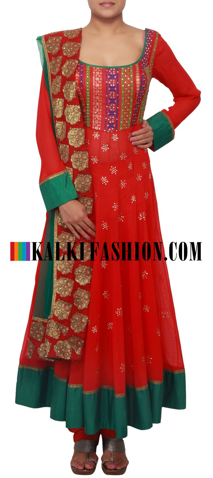 Get this beautiful salwar kameez here: http://www.kalkifashion.com/red-anarkali-suit-embellished-in-stone-embroidery-only-on-kalki.html Free shipping worldwide.