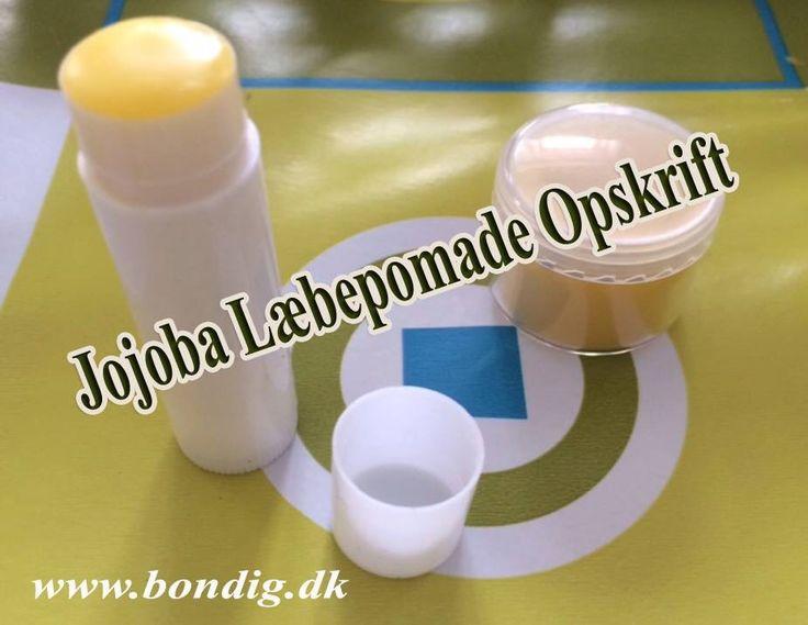 Jojoba Læbepomade Opskrift: http://bondig.dk/laebepomade-opskrift/