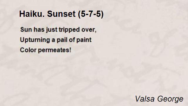 haiku poems about love 5 7 5 - photo #2