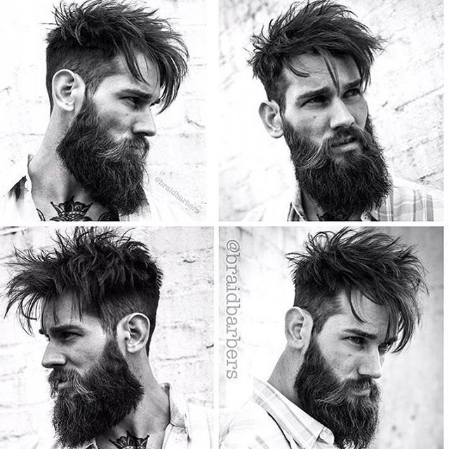 """727 Me gusta, 4 comentarios - Bearded Lifestyle (@beardedlifestyle) en Instagram: """"Great haircut by @braidbarbers 👌🏼 What do you think? Comment below ✨ - - - - #beard #beards…"""""""