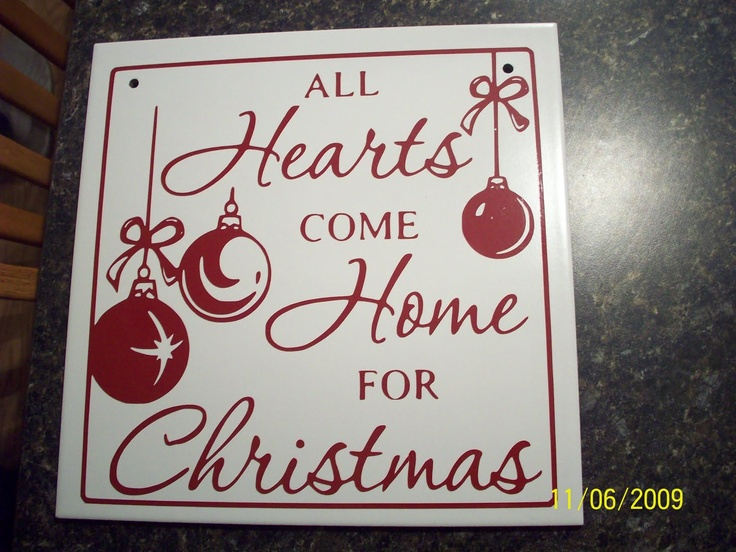 Made With A Ceramic Tile And A Cricut I Have To Try This