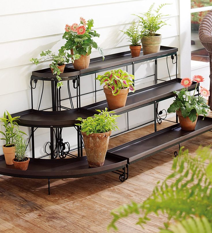 17 best ideas about outdoor plant stands on pinterest plant stands woodworking and all modern - Corner shelf for plants ...