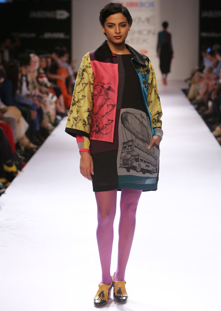 Pink Balloon Boxy Jacket, Grey Bus Shift Dress,   Bombay Balloons AW'14 Collection, Shop the collection from www.thequirkbox.com